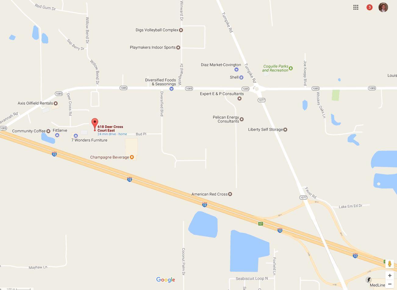 Madisonville Notary Louisiana map